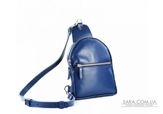 Сумка-рюкзак шкіряна Sling-Bag Синій 924098 Babak