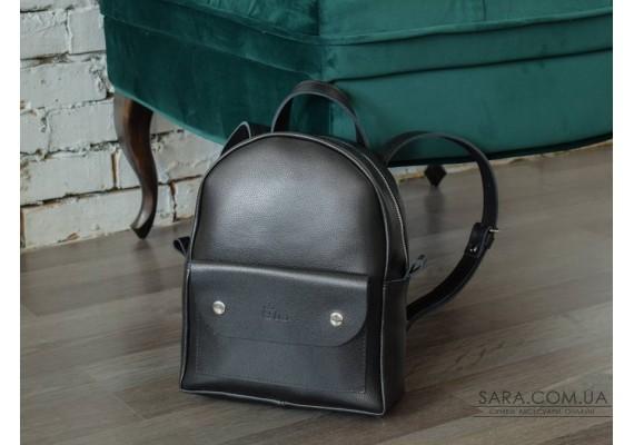 Рюкзак шкіряний Terra Black-shine 873012 Babak