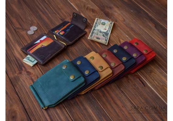 Шкіряний затискач для грошей 99 099 Babak