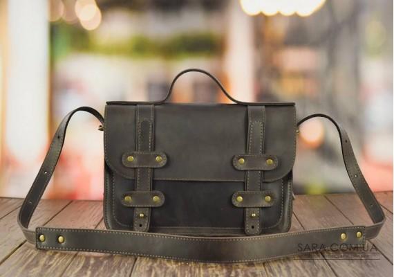 Портфель кожаный Messenger Brown 952051 Babak