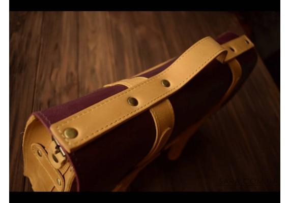 Портфель кожаный Folio Camel/Marsala 863079/66 Babak