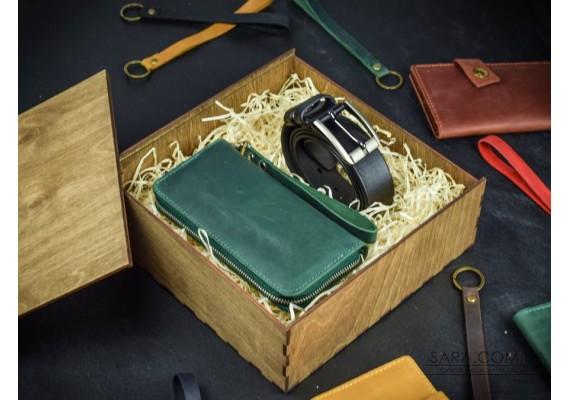 Набор кожаных аксессуаров Belt 3.5 1013 Babak