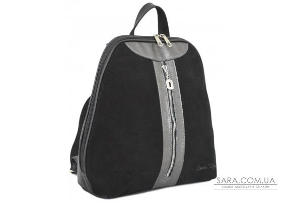 570 сумка-рюкзак чорна срібло Lucherino