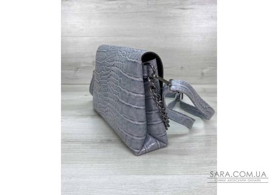 Жіноча сумка клатч «Келли» сероголубая WeLassie