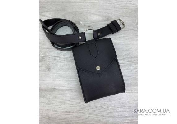 Жіноча сумка на пояс «Ида» черная WeLassie