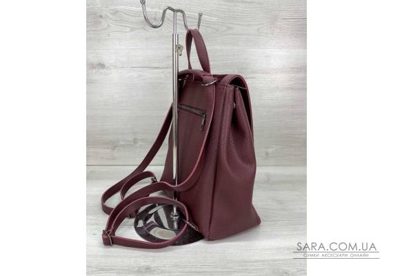 Сумка рюкзак «Луи» с замшем бордовый WeLassie