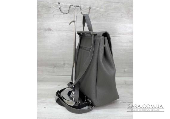 Сумка рюкзак «Луи» с замшем серый WeLassie