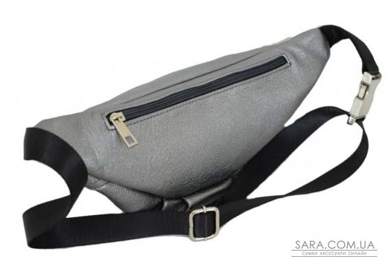 595 поясна сумка шкіряна срібло Lucherino