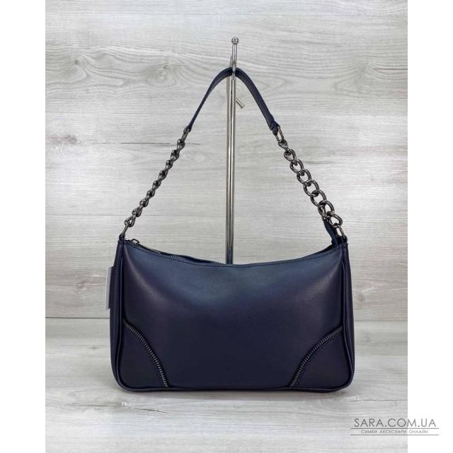Жіноча сумка «Луна» темно синя WeLassie дешево