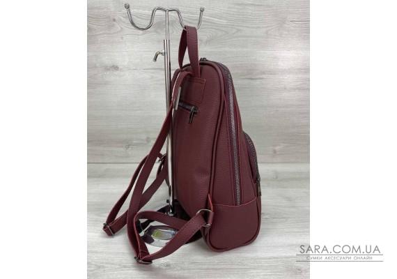 Женский рюкзак «Дин» бордовый WeLassie