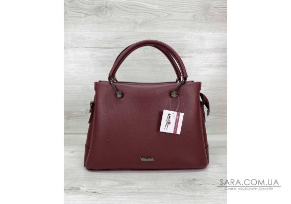 Женская сумка «Грана» бордовая WeLassie