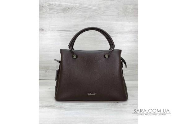 Женская сумка «Грана» шоколадная WeLassie