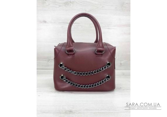 Женская сумка «Jean» бордовая WeLassie