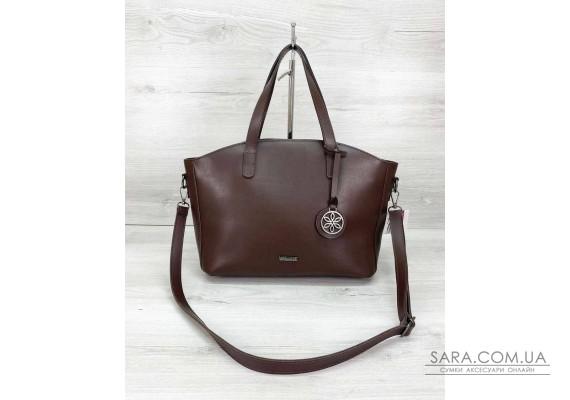 Женская сумка «Сью» шоколадного цвета WeLassie