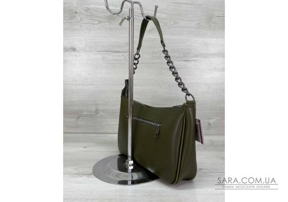 Жіноча сумка «Луна» оливкова WeLassie