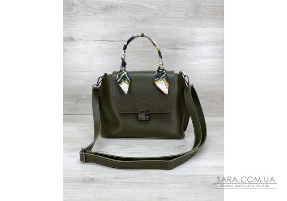 Жіноча сумка клатч «Ліам» оливкова WeLassie