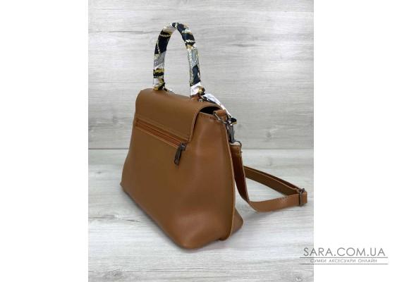 Жіноча сумка клатч «Ліам» руда WeLassie