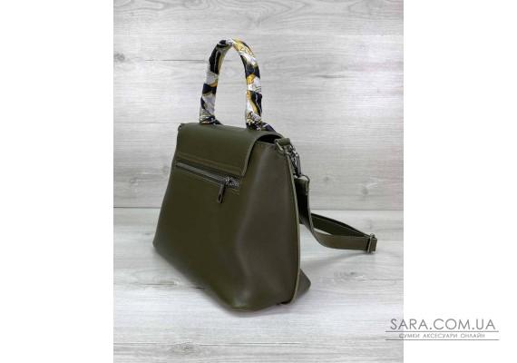 Женская сумка клатч «Лиам» оливковая WeLassie