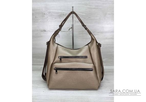 Женский сумка рюкзак «Голди» золотой WeLassie