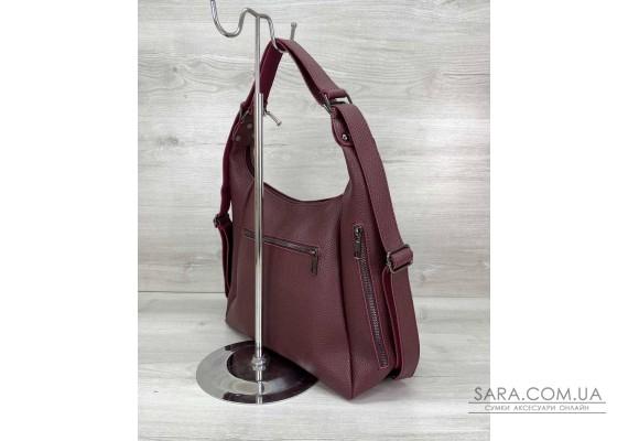Жіночий сумка рюкзак «Голді» бордовий WeLassie