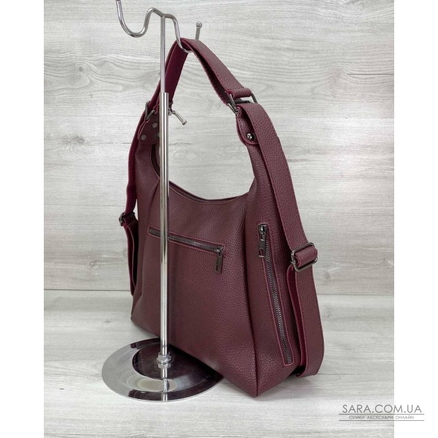 Жіночий сумка рюкзак «Голді» бордовий WeLassie дешево