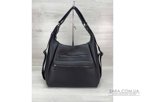 Жіночий сумка рюкзак «Голді» чорний WeLassie