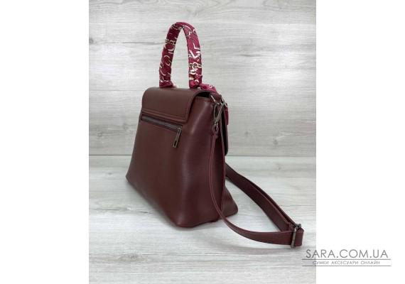 Женская сумка клатч «Лиам» бордовая WeLassie