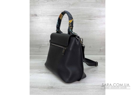 Жіноча сумка клатч «Ліам» чорна WeLassie