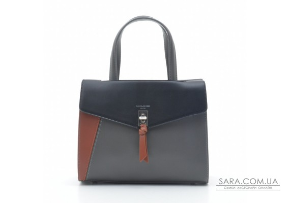 Жіноча сумка David Jones 6410-2T black grey
