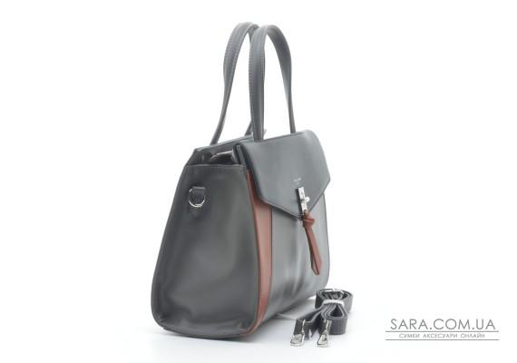 Женская сумка David Jones 6410-2T black grey