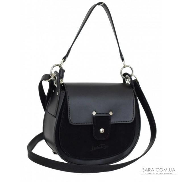 Купити 662 сумка замш чорна Lucherino дешево. Україна
