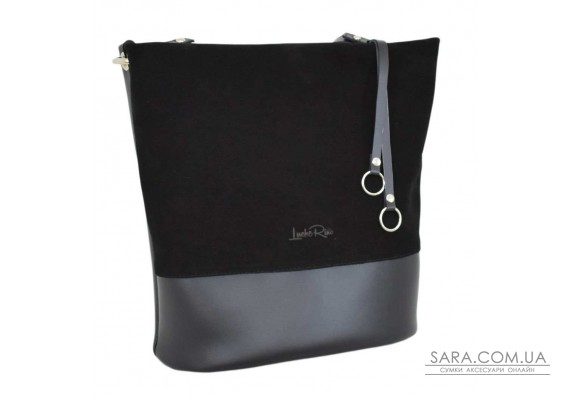 661 сумка замш чорна Lucherino