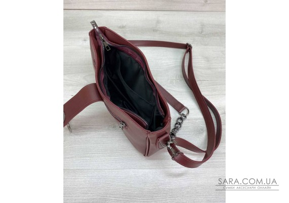 Женская сумка «Эвери» бордовая WeLassie