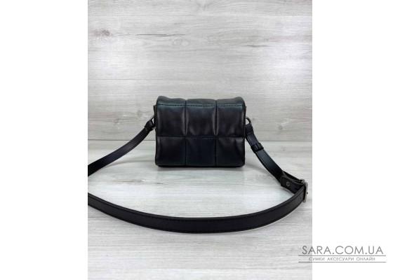 Маленькая женская сумка «Дина» черная WeLassie