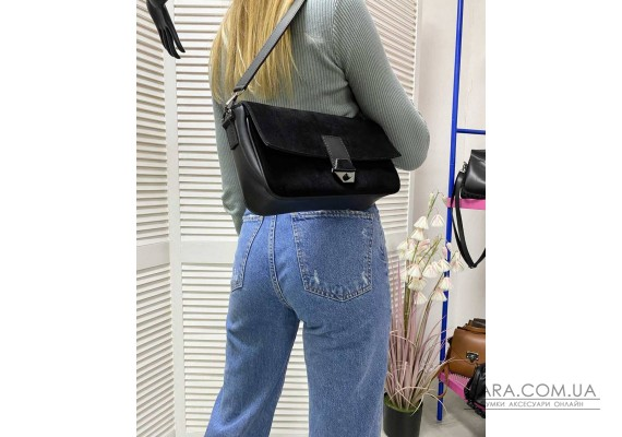 Жіноча сумка «Наомі» натуральний замш WeLassie