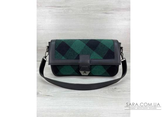 Женская сумка «Наоми» зеленая клетка WeLassie