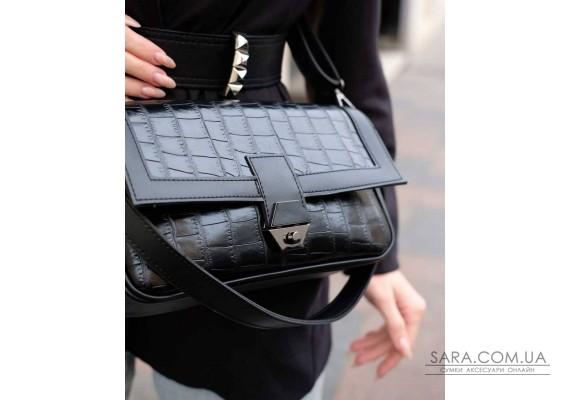 Женская сумка «Наоми» черный крокодил WeLassie