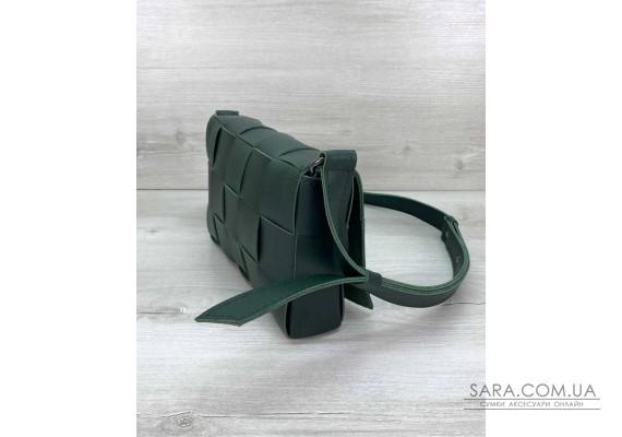Жіноча сумка Bottega плетені зелена WeLassie