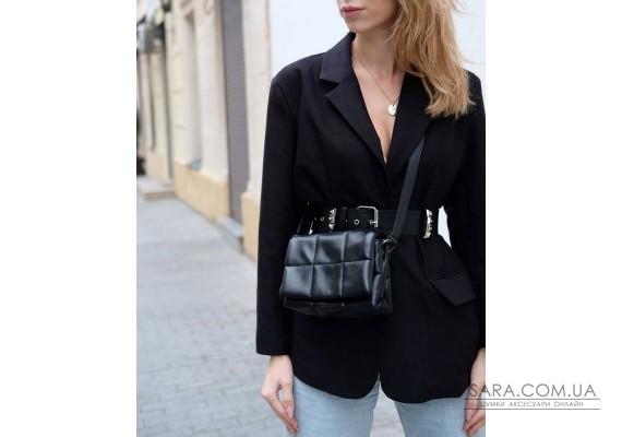 Маленька жіноча сумка «Діна» чорна WeLassie