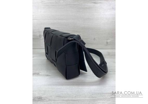 Жіноча сумка Bottega плетені чорна WeLassie