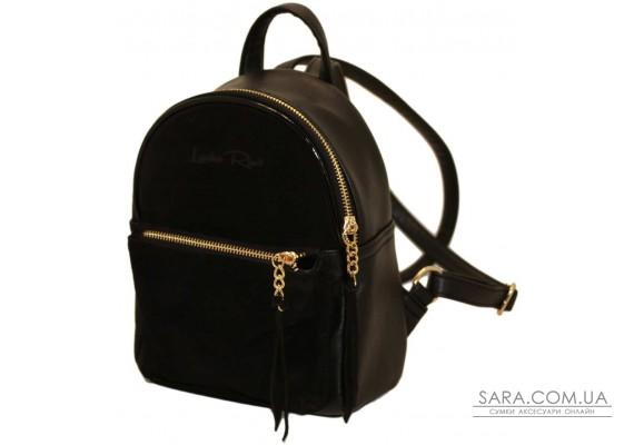 407 рюкзак чорний замш з Lucherino