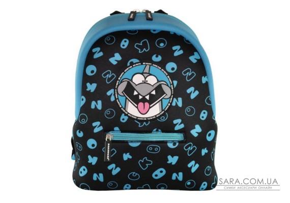 Рюкзак дошкільний KOKONUZZ-BE HAPPY з акулою чорно-синій