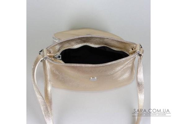 Сумка кожаная женская через плечо 190110 золотая
