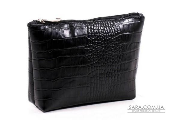 Жіноча косметичка шкіряна k010201 кайман чорна