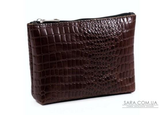 Жіноча косметичка шкіряна k010202 кайман коричнева