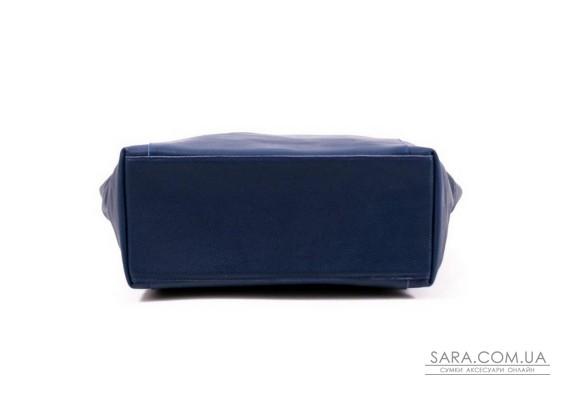 Сумка шкіряна жіноча 030104 синя