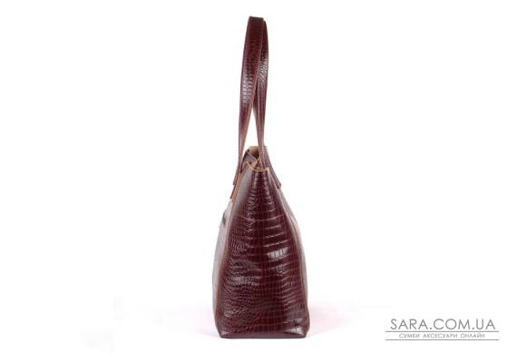 Сумка шкіряна жіноча 030202 кайман коричнева