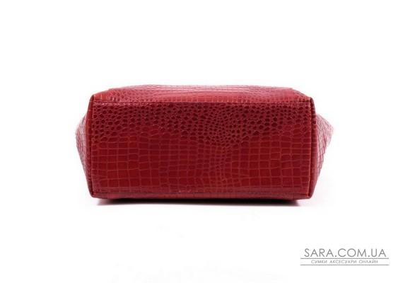 Сумка шкіряна жіноча 030203 кайман червона