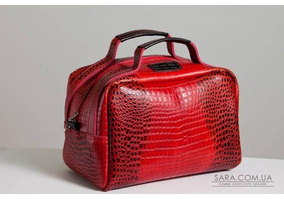 Сумка шкіряна жіноча 060203 кайман червона
