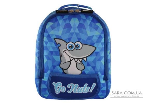 Рюкзак дошкільний KOKONUZZ-GO NUTS з акулою блакитний